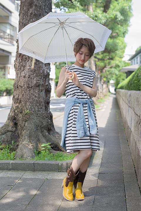 魔法少女まどか☆マギカ 巴マミ モデル レインシューズ&折り畳み傘