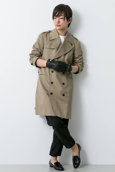 明智吾郎モデル コート・ショルダーバッグ・ローファー・手袋・腕時計 ペルソナ5