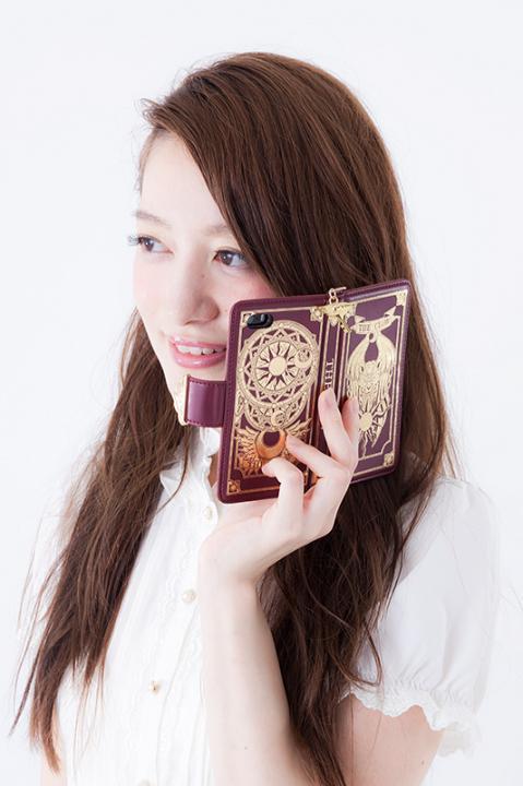 クロウカードの本ブック型スマートフォンケース(5/5S用) スマホケース カードキャプターさくら