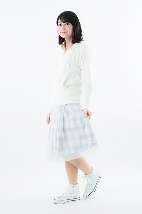 RADIO EVA DUO チェック柄チュールスカート レイモデル