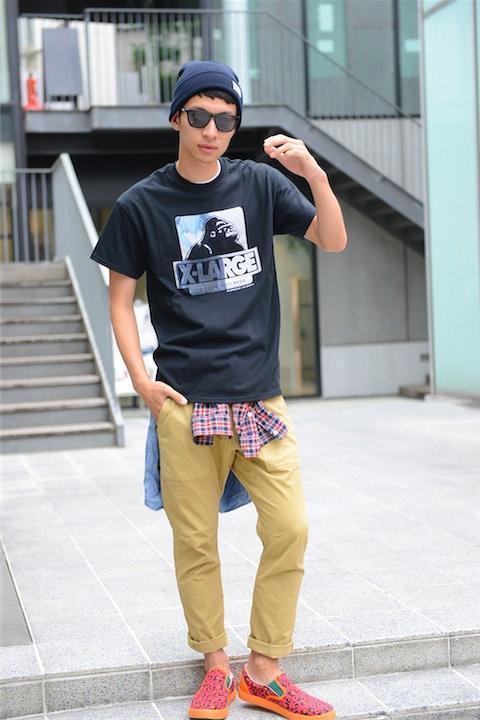 X-LARGE綾波OG Tシャツ+UBIQ2号機モデルスニーカー