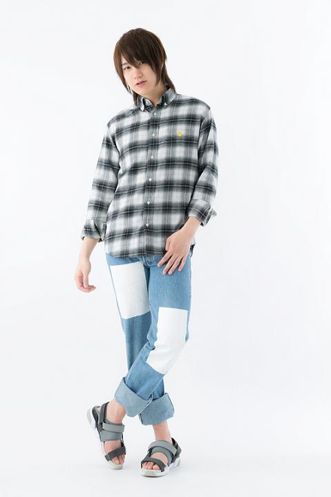 ハイキュー!!×MANGART BEAMS T 梟谷学園高校 モデル チェックシャツ シャツ