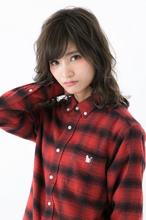 ハイキュー!!×MANGART BEAMS T 音駒高校 モデル チェックシャツ シャツ