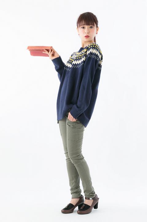 RADIO EVA DUO 碇シンジ モデル ノルディックジャガードニット トップス ネイビー エヴァンゲリオン