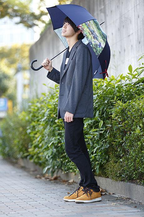 君の名は。 モデル 傘のコーディネート