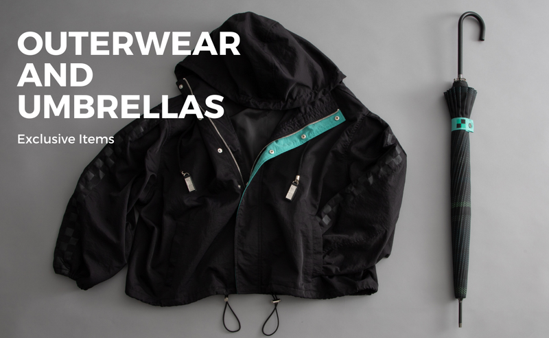 OUTERWEAR AND UMBRELLAS Exclusive items