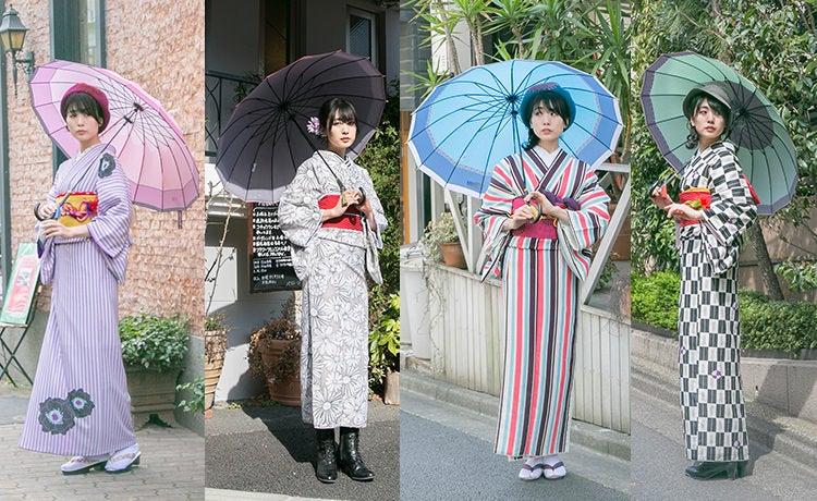 『刀剣乱舞-ONLINE-』より、刀剣男士四振りをイメージした傘が新登場!