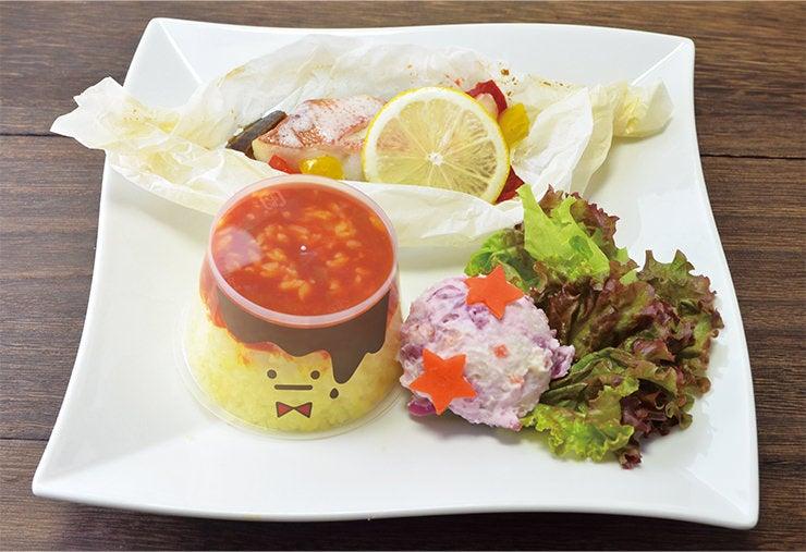「三月の献立 魚の包み焼きプレート」(1,080円)