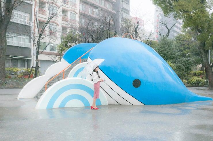 ⑧子供たちのだけの世界にぴったりの「クジラ公園」