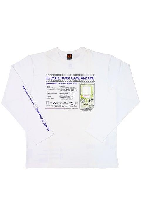 ULTIMATE HANDY GAME MACHINE GBスケルトン ロングTシャツ 任天堂