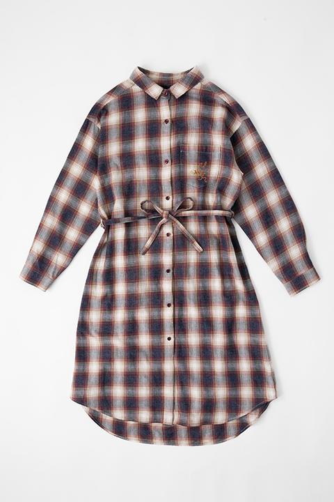 ユーリ・プリセツキー モデル ロングチェックシャツ シャツワンピース シャツ ユーリ!!! on ICE