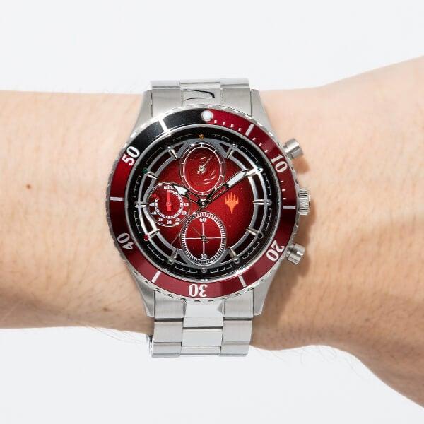 赤マナ モデル 腕時計 マジック:ザ・ギャザリング